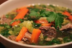 Caldo De Res (Mexican Beef Soup)   Everyday Paleo  I made this today and it was yummy!  I did not put the celery and I added sweet potatoes.