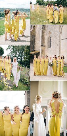 0446792c25 Yellow Bridesmaids Dresses High Street Mustard