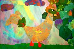 Chagall's rooster - he has many if you google or can be eric carle