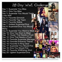 """Day 10: Diva I want to Meet: The cast of Total Divas minus Eva Marie"" by legoinofboom ❤ liked on Polyvore"