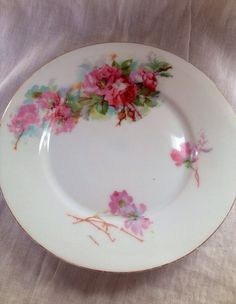 Handpainted Vintage China Side Plate Roses by PurityBelle on Etsy, €5.00