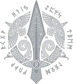 Viking Tattoo Sleeve, Norse Tattoo, Celtic Tattoos, Viking Tattoos, Sleeve Tattoos, Wiccan Tattoos, Inca Tattoo, Indian Tattoos, Loki Tattoo