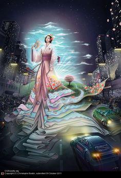 Amaterasu is the Japanese sun Goddess - Google Search
