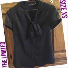 The Limited Black Bow Tie Blouse Sz XS - Mercari: Anyone can buy & sell