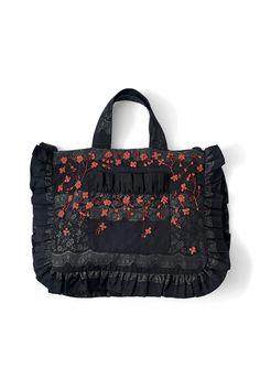 Auburn Jacquard Tote Bag, Black