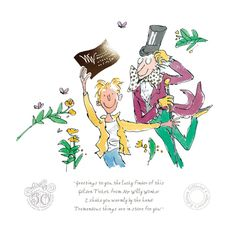 Charlie And The Chocolate Factory 50th Anniversary-Quentin Blake New release very special piece