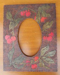 BEAUTIFUL FLEMISH ART CHERRIES FRAME. Just needs a favorite photo. | eBay!