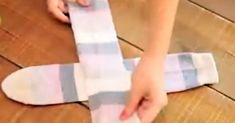 How to fold your socks into nice little squares for your drawer.