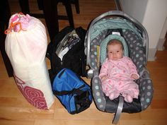 Ella 2 Months - Lots of baby gear to go