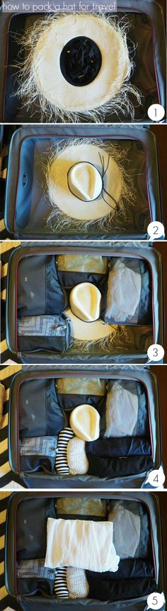 Smart Packing Tricks That Will Make Your Trip So Much Easier how to pack a hat for travel