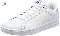 K-Swiss Women's Clean Court Cmf Fashion Sneaker, White/Dream Blue/Limoges, 11 M US - K swiss sneakers for women (*Amazon Partner-Link)