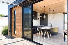 Prefab homes and modular homes in Australia: Ecoliv Sustainable Modular Homes Container House Plans, Container House Design, Sustainable Architecture, Sustainable Design, Sustainable Development, Prefab Homes Australia, Container Homes Australia, Prefab Modular Homes, Small Modular Homes
