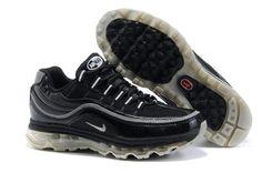 397252 009 Nike Air Max 24-7 Black Metallic Silver White AMFM0558
