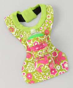 What a great idea!  Take a look at this Green & Pink Bottle Holder Bib by Little Angel Innovations on #zulily today! http://www.zulily.com/invite/marissaschmucker250