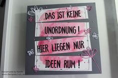 ein Lettering Layout in zarter Pflaume Stampin up