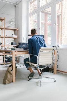 David Fischer at his studio in Berlin / photo by Philipp Langenheim