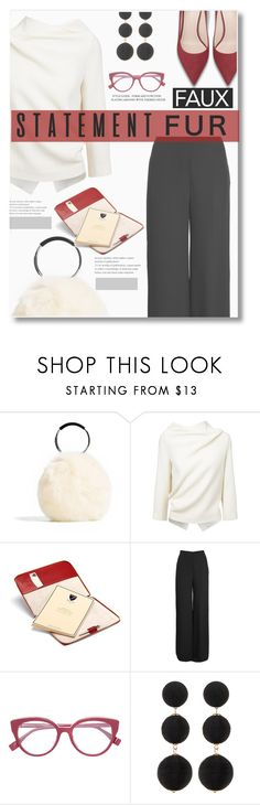"""""""Faux Fur - contest entry"""" by tanyaf1 ❤ liked on Polyvore featuring Roland Mouret, Aspinal of London, Oscar de la Renta and Cara"""