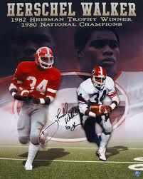 Autographed Herschel Walker U of Georgia Photo - Walker-H . Georgia Bulldogs Football, Dog Football, College Football, Football Season, Football Players, Football Helmets, U Of Georgia, Georgia Girls, Best Running Backs
