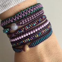 Pixie Rose Studio ~ One of a kind Purple Butterfly wrap bracelet now available on Etsy