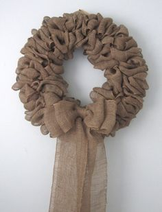 Large 25 Wide Thick Gorgeous Burlap Wreath by Therobinandsparrow