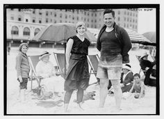 Long Beach Long Island, 1914--I'd go to the beach more if this was still the fashion. ;)