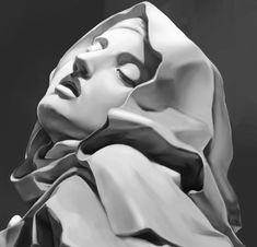 Ancient Greek Sculpture, Greek Statues, Statue Tattoo, Art Sculpture, Sculptures, Croix Christ, Art Sketches, Art Drawings, Face Drawing Reference