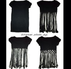 T-Shirt DIY Tutorial, I would so do this for a bathing suite cover up. - T-Shirt DIY Tutorial, I would so do this for a bathing suite cover up. 🙂 Ill attempt this one day…probably will look NOTHING like this though lol Do It Yourself Mode, T Shirt Redesign, Diy Fashion, Ideias Fashion, Fashion Bubbles, Shirt Designs, Diy Kleidung, Diy Vetement, Diy Couture