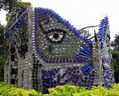 Glass recycling art
