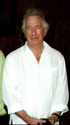 June 12 to 16, 2007 -- Alan Rickman in Tbilisi, Georgia. He's actually standing next to George Agladze Grusin, but George has been cropped out of the photo.