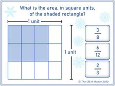 Area of a Rectangle With Fractional Side Lengths Christmas Distance Learning Google Classroom, Math Games, Task Cards, Christmas Themes, Distance, Learning, Studying, Long Distance, Teaching