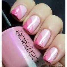 Simple pink nail art