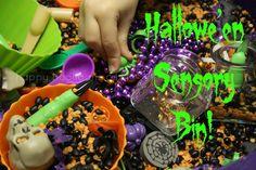 Hallowe'en Sensory Bin - happy hooligans