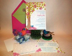 Custom invitation by Parcel