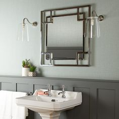 Daffings Mirror in polished stainless steel Mirrors