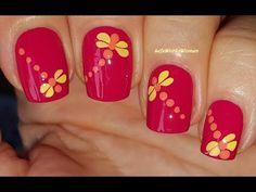 Life World Women: Red Fall Dragonfly Nail Art Orange Nail Art, Orange Nail Designs, Yellow Nails, Red Nails, Nail Art Designs, Dragonfly Nail Art, Youtube Nail Art, Fall Nail Art, Fall Nails