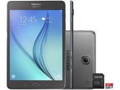 "Tablet Samsung Galaxy Tab A 8.0 16GB Tela 8"" 4G - Wi-Fi Android 5.0 Proc. Quad Core + Cartão 16GB"