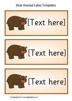 Bear-Themed Classroom Label Templates (SB9672) - SparkleBox Bear Theme Preschool, Preschool Classroom Decor, Classroom Labels, Toddler Classroom, Preschool Themes, Classroom Themes, Classroom Organization, Classroom Signs, Bear Bulletin Board Ideas
