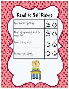 read-to-self rubric for daily 5/ CAFE. great visual for the start of daily 5 in my room