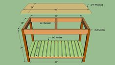 to build a wooden kitchen island Building a simple kitchen island- (My measurements are by by Building The Building may refer to: Kitchen Island Building Plans, Pallet Kitchen Island, Stools For Kitchen Island, Wooden Kitchen, How To Build Kitchen Island, Pallet Island, Homemade Kitchen Island, Kitchen Islands, Kitchen Cooler