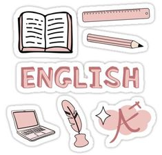 Peach English School Subject Sticker Pack StickerThere are many subjects we learn in Bristish high schools. Homemade Stickers, Diy Stickers, Printable Stickers, Laptop Stickers, Bullet Stickers, Kawaii Stickers, Planner Stickers, Notebook Stickers, Journal Stickers