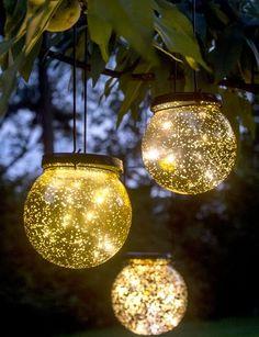 Solar globe lights - fairy dust ball now on sale.