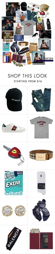 """""""everybody hates condoms ."""" by k-ingpin ❤ liked on Polyvore featuring Born Fly, Balenciaga, AG Adriano Goldschmied, Gucci, Enzo, Burberry, Wrigley's, Polo Ralph Lauren, Hoorsenbuhs and Royce Leather"""