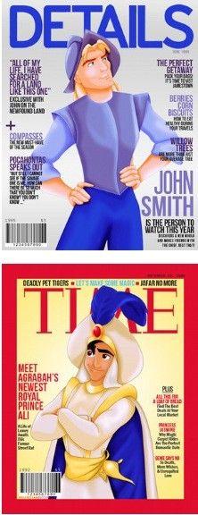Disney Princes Magazine Covers