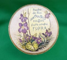 FLORA FACE POWDER CARDBOARD BOX