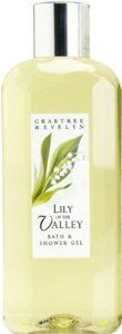 Crabtree & Evelyn Lily of the Valley Bath & Shower Gel 8.5 Oz by Crabtree & Evelyn. $39.99. Product #: 307242. Scent: Bouquet of lily of the valley blossoms, white rose and night-blooming jasmine.. Foaming bubble bath. Rich lathering shower gel. 8.5 Oz/ 250 mL