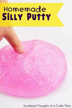 "How to make homemade ""silly putty"""