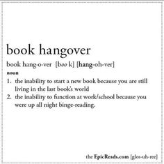 Book Term Glossary Defines Important Phrases For Book Lovers. Heheh, I definitely have this book hangover thing constantly. I Love Books, Good Books, Books To Read, My Books, The Words, Book Of Life, The Book, Book Hangover, Vampire Academy