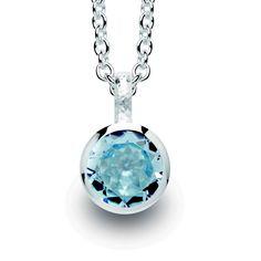 Bastian Inverun 10482 Blue Topaz #pendant  #sterling silver  Blue #Topaz .10ct