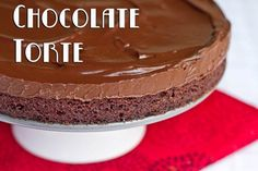 Chilled Double Chocolate Torte - A Must Make!