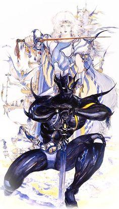 Final Fantasy IV original art (Square for Super Famicom, 1991).